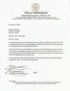 Florida State Representative Yolli Roberson